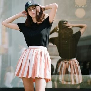 Maison Kitsune Striped Skater Skirt Size 36